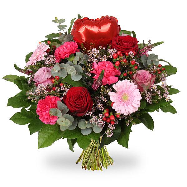 "Moederdag boeket ""Ik hou van jou"" (met hartballon)"